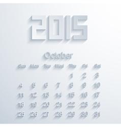 modern 2015 calendar Eps 10 vector image