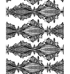 seamless pattern Fox Doodle Symbol vector image vector image