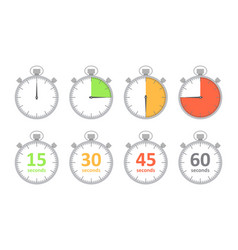 set of simple timers vector image