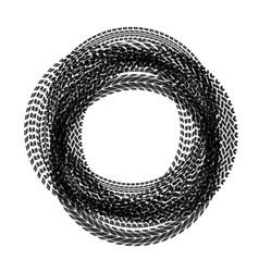 circle tire tracks vector image vector image