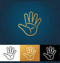 open hand icon vector image vector image