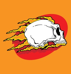 skull badge vector image vector image