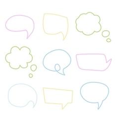 Speech Bubble Handdrawn Set vector image vector image