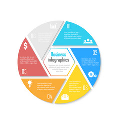 template for circle diagram options web design vector image vector image