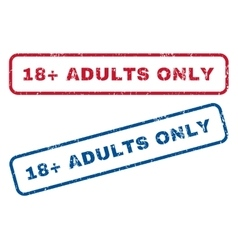 18 Plus Adults Only Rubber Stamps vector image