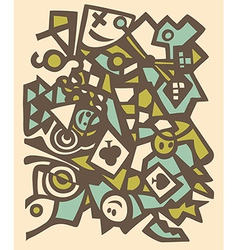 Abstract design mosaic texture vector