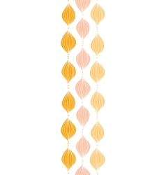 Abstract golden ogee vertical border seamless vector