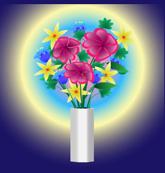 abstraction vase with flowers vector image