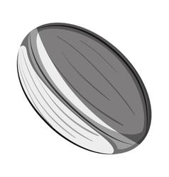 american football ball emblem vector image