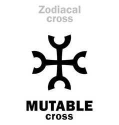 astrology mutable cross vector image