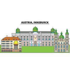 Austria innsburck city skyline architecture vector