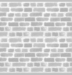 Background gray white brick empty wall clear vector