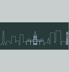 Baltimore single line skyline vector