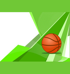 basketball background vector image