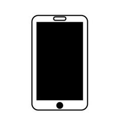black icon tablet cartoon vector image