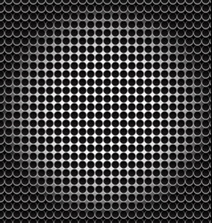 black pattern halftone metal shape background vector image