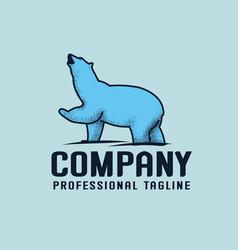 blue bear logo template vector image