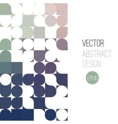 Bright abstract retro design background vector image