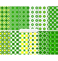 Bright and simple green and yellow small squares vector image