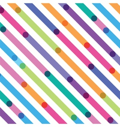 bright color strips on a diagonal seamless pattern vector image