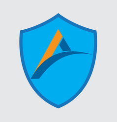 business logo with shield vector image