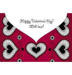 Card Happy Valentines Day vector image vector image