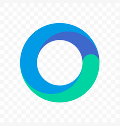 Circle blue round icon vector