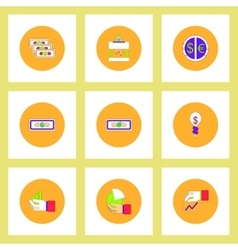 Collection of icons in flat style economic vector image