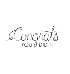 Congrats message with hand made font vector