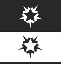 Converging five arrows logo forming shape vector