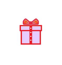 creative gift gentleman tie logo vector image