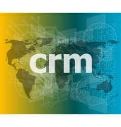 Crm word backgrounds touch screen with vector