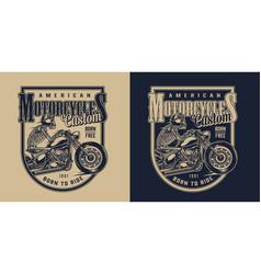 custom american motorcycle vintage logotype vector image