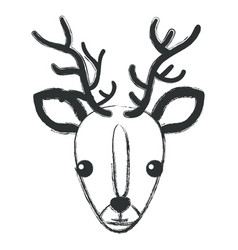 cute and tender reindeer vector image