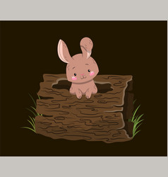 cute little woodland or forest creatures poster vector image
