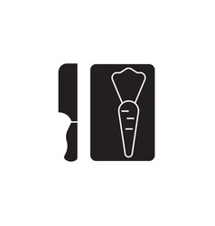 cutting board black concept icon cutting vector image