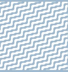 diagonal wavy lines seamless marine pattern vector image