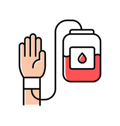 Donorship color icon blood donation and vector