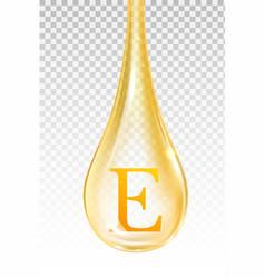 drop oil vitamin e isolated vector image