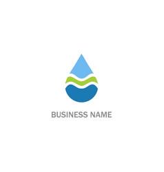 droplet wave water bio logo vector image