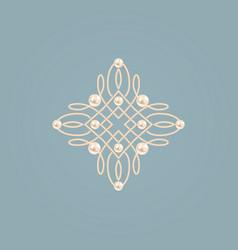elegant golden knot sign vector image