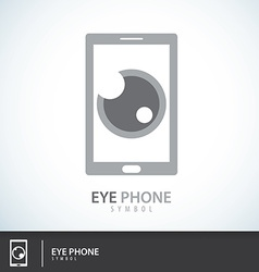 Eye Phone symbol icon vector