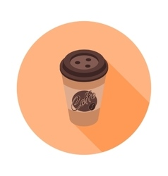 flat isometric icon with a coffee Cup vector image