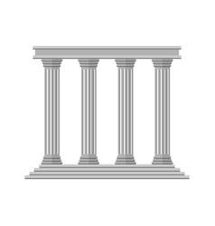 Flat retro ancient columns vector