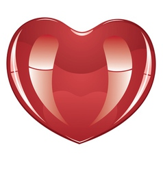 Glossy Heart2 vector image