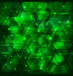 green abstract techno background vector image