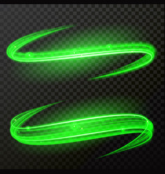 Green light glow twirl shine vector