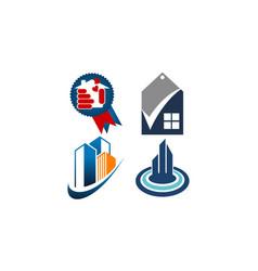home real estate set vector image