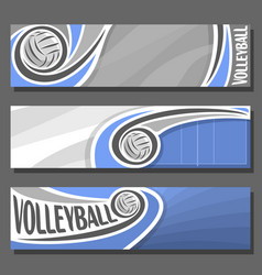Horizontal banners for volleyball vector