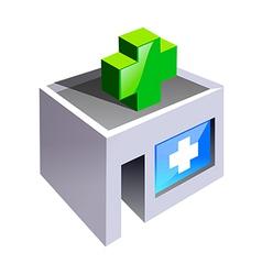 icon hospital vector image